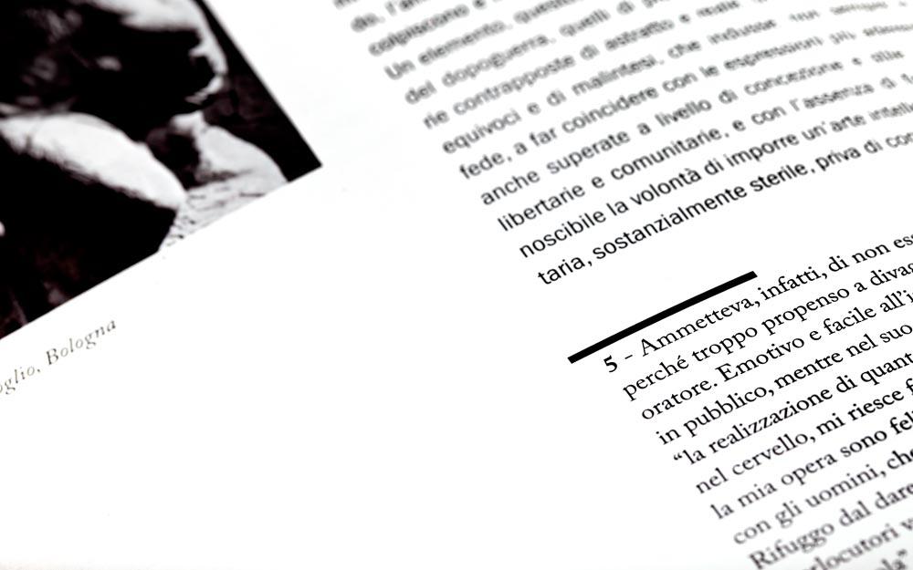 Omaggio a Minguzzi, dettaglio del catalogo