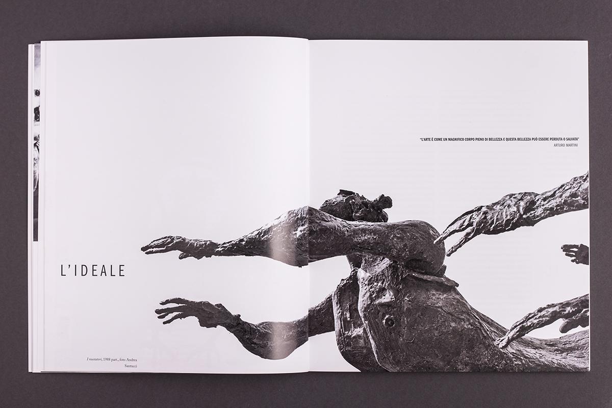 Omaggio a Minguzzi, catalogo mostra, apertura sezione