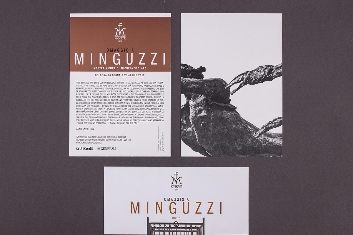 Omaggio a Minguzzi, cartolina e invito