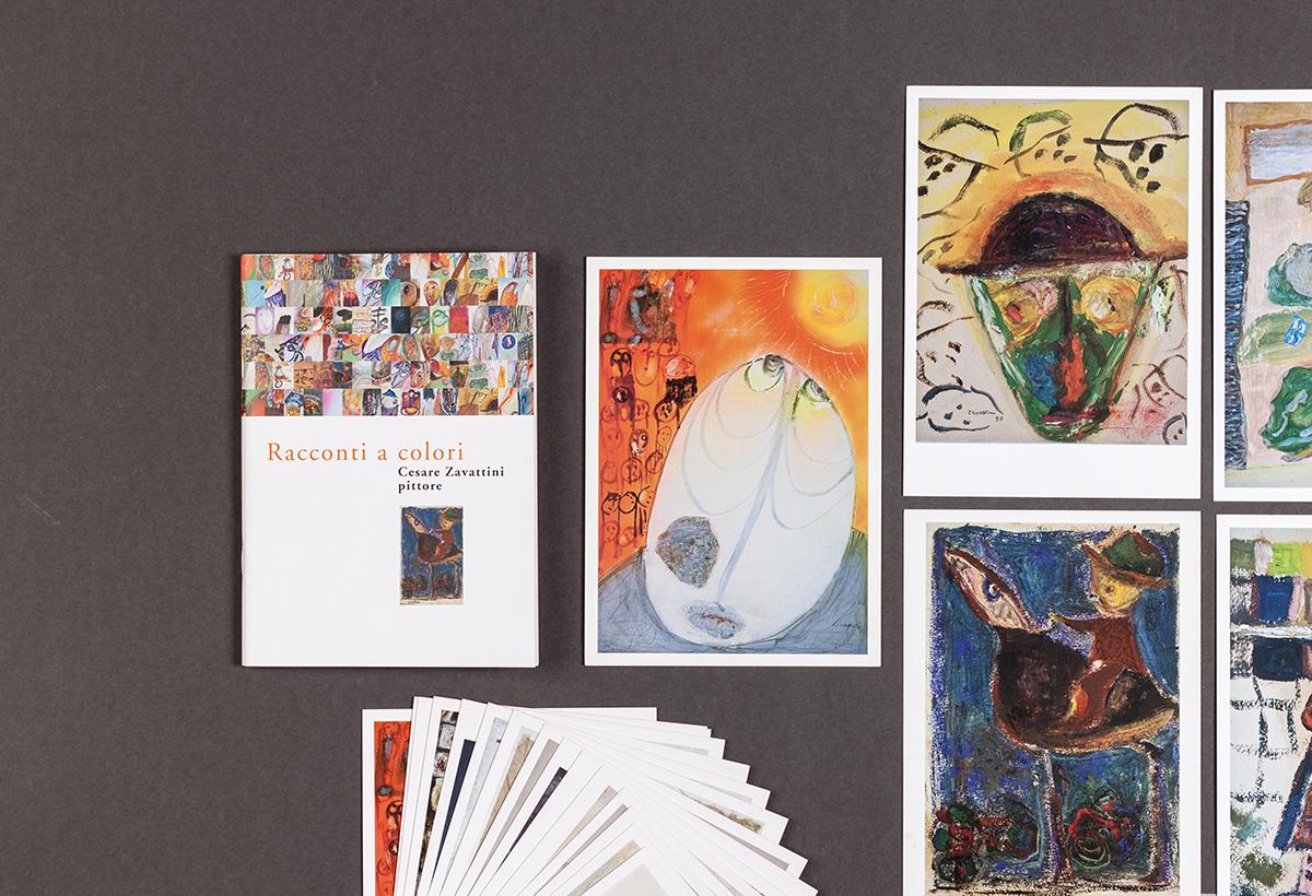 Zavattini, catalogo mostra con cartoline