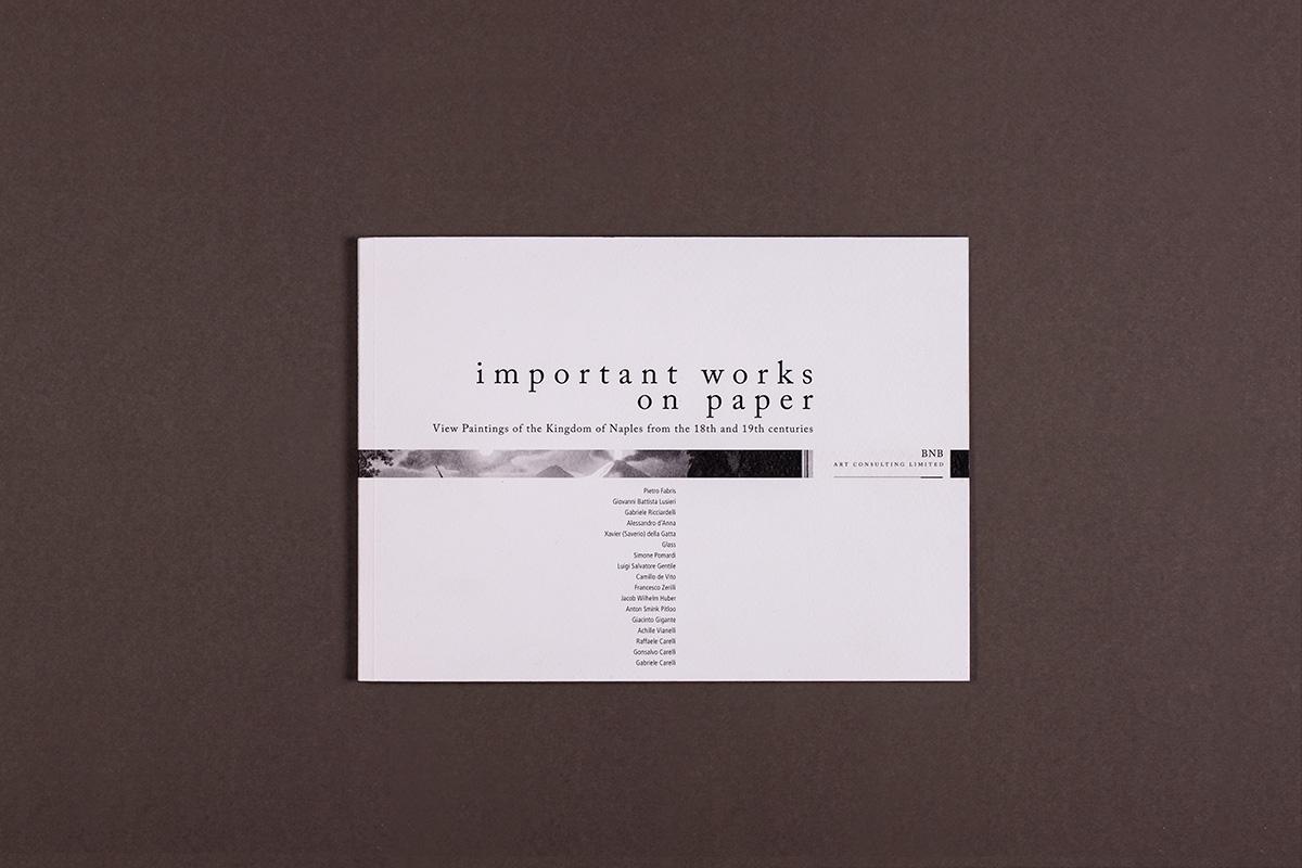 BNB - copertina del catalogo della mostra: important work on paper