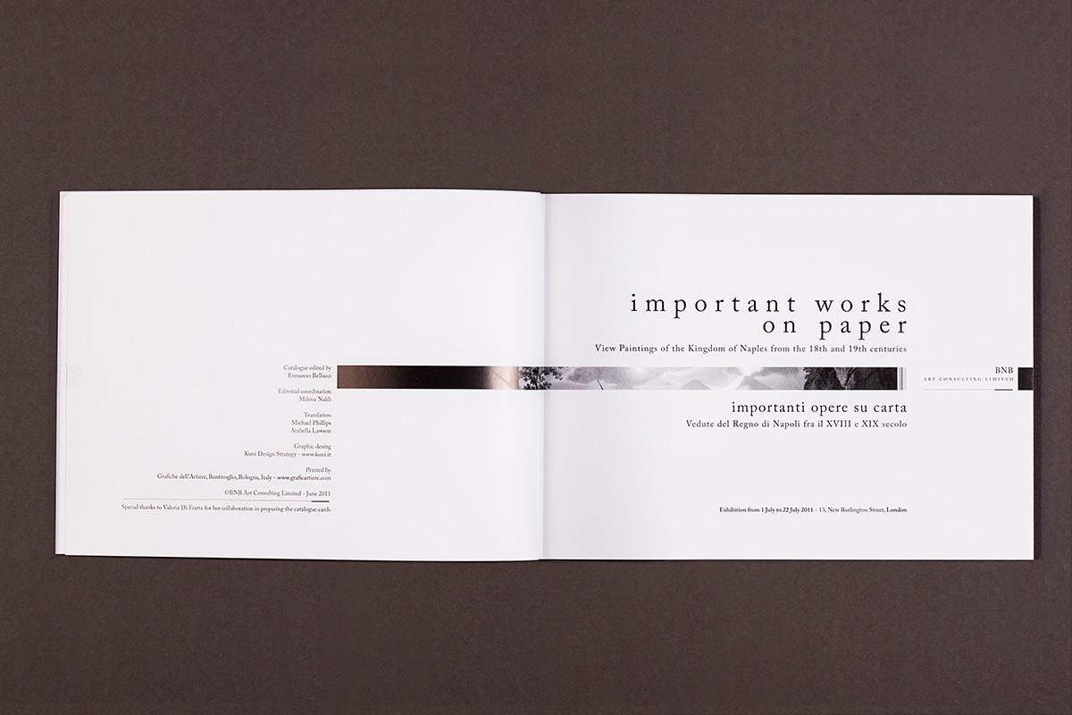 BNB - frontespizio del catalogo della mostra: important work on paper