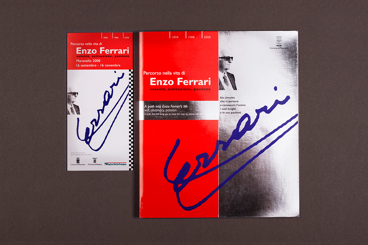 Enzo Ferrari - Copertina e pieghevole evento