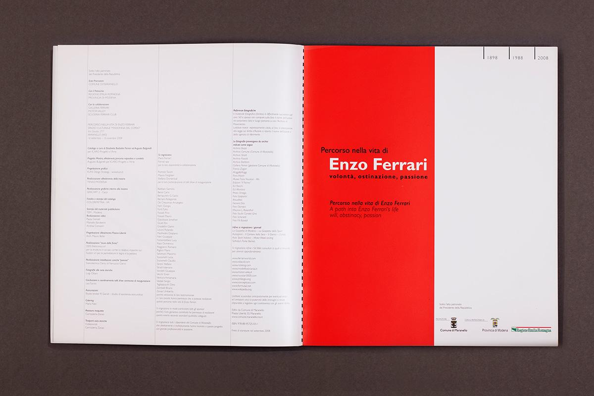 Enzo Ferrari - frontespizio del catalogo
