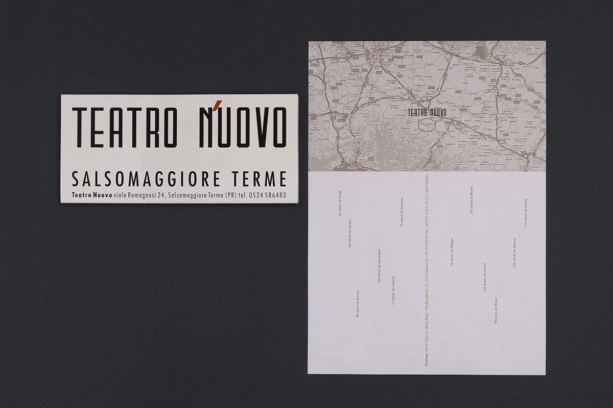 Teatro Nuovo, retro carta intestata e locandina