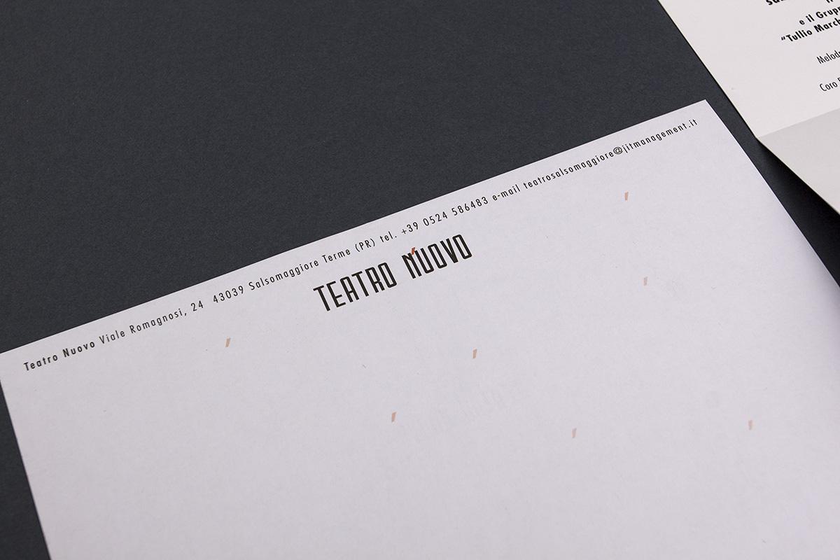 Teatro Nuovo, carta intestata