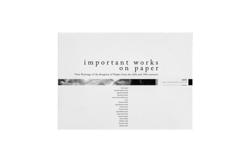 copertina del catalogo: Important works on paper